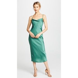Mint silk slip midi dress✨⭐️